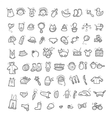 Big set of handwritten icons of childhood things vector image vector image