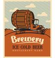 brewery car vector image