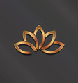 bronze lotus flower logo icon vector image vector image