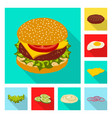 burger and sandwich symbol vector image