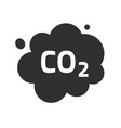 carbon co2 pollution emission cloud icon vector image vector image