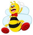Cartoon bee giving thumb up vector image vector image