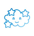 cartoon cute cloud stars baby shower image vector image vector image