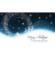 Christmas greeting card with snowfall snowflakes vector image vector image