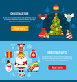 christmas tree and gifts banners vector image
