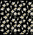 citrus flowers seamless pattern with flowers and vector image vector image