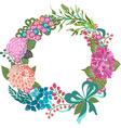 color floral frame for wedding invitation design vector image vector image
