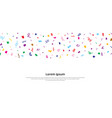 colorful confetti repeat pattern for birthday vector image