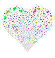 component fireworks heart vector image vector image