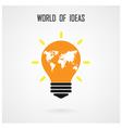 Creative light bulb Idea concept background design vector image vector image