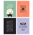 cute halloween poster set vector image