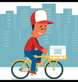Delivery Man Riding Bicycle vector image