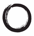 enso japanese zen circle brush vector image