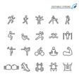 exercising line icons editable stroke vector image
