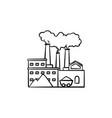 factory hand drawn sketch icon vector image