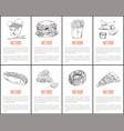 fast food sketches outline vector image vector image