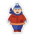 fat boy winter vector image