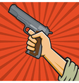 Fist Holding 1911-style Pistol vector image vector image