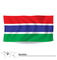 Flag of Gambia vector image