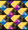 geometric abstract polygons seamless pattern vector image