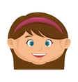 girl kid cartoon vector image