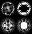 halftone circle patterns vector image vector image