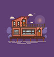 house or building home construction on water vector image vector image