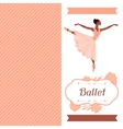Invitation card to ballet dance show with vector image vector image