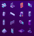 iot business office isometric icons vector image vector image