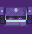 karaoke bar interior empty stage lights and vector image vector image