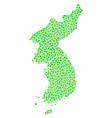 korea map mosaic of dots vector image vector image