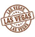 las vegas brown grunge round vintage rubber stamp vector image vector image
