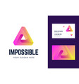 logo and business card template with an impossible vector image