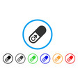 male power pill rounded icon vector image vector image