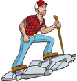manly hiker vector image vector image