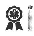 medical seal icon with men bonus vector image vector image