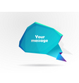 message bubble vector image vector image