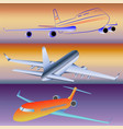 models of passenger aircraft vector image