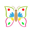multicolored colorful butterfly vector image