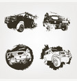 off road elements set vector image vector image