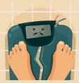 overweight people broken scales vector image vector image