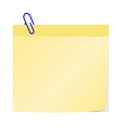 post it with blue clip vector image vector image