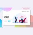 psychiatrist session in mental clinic landing page vector image