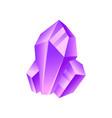 purple crystal precious gemstone or semiprecious vector image vector image