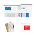 rental agreement concept rental agreement keys vector image vector image