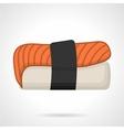 Salmon nigiri sushi flat icon vector image