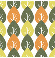 seamless colorful foliage pattern baby leaf vector image vector image