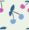 seamless pattern with cherry in sketch style vector image vector image