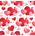 seamless pattern with hearts on the background vector image vector image