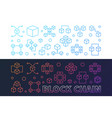 set of two block chain colorful banners in vector image vector image